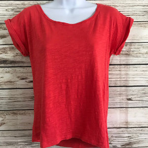 American Rag Coral Short Sleeve Casual Tee Shirt